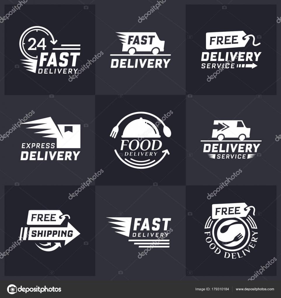 0cc8ae42c5 Set di etichette di consegna per lo shopping online. Spedizione in tutto il  mondo. Etichette e segni consegna gratuita. Logotipo di consegna veloce nel  ...
