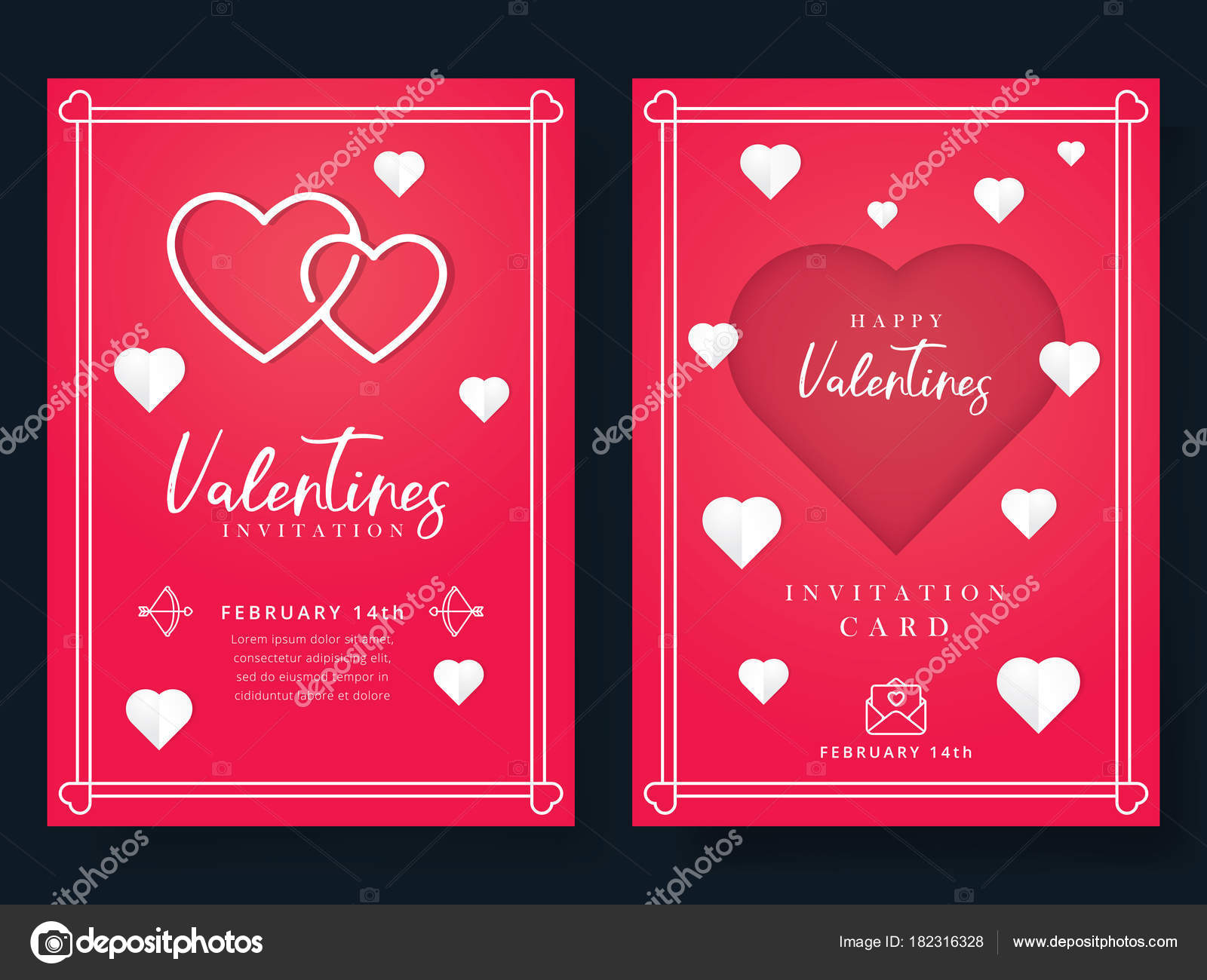 Valentines Day Wedding Invitation Beautiful Greeting Invitation