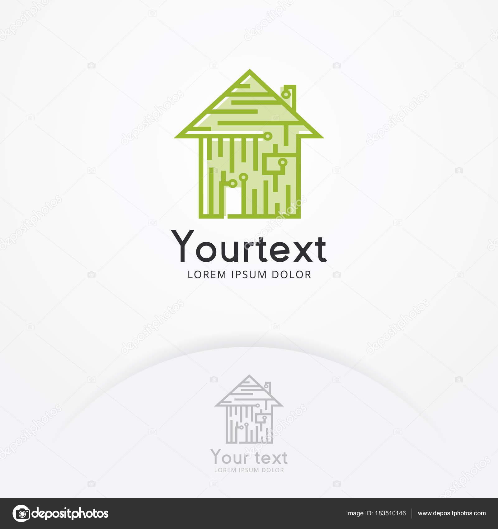 Platine Haussymbol Home Automation Konzept Haus Technologie Logo ...