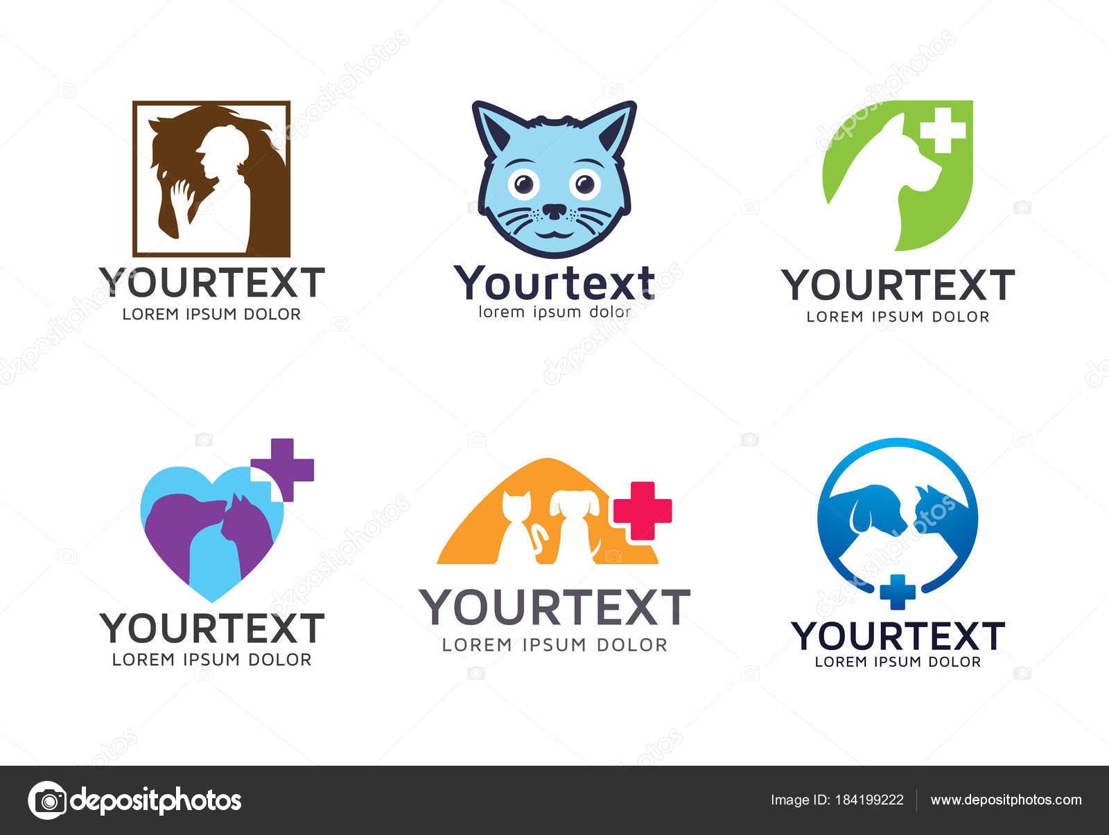 Sammlung Von Pet Logo Satz Von Vektor Haustier Logo Und ...