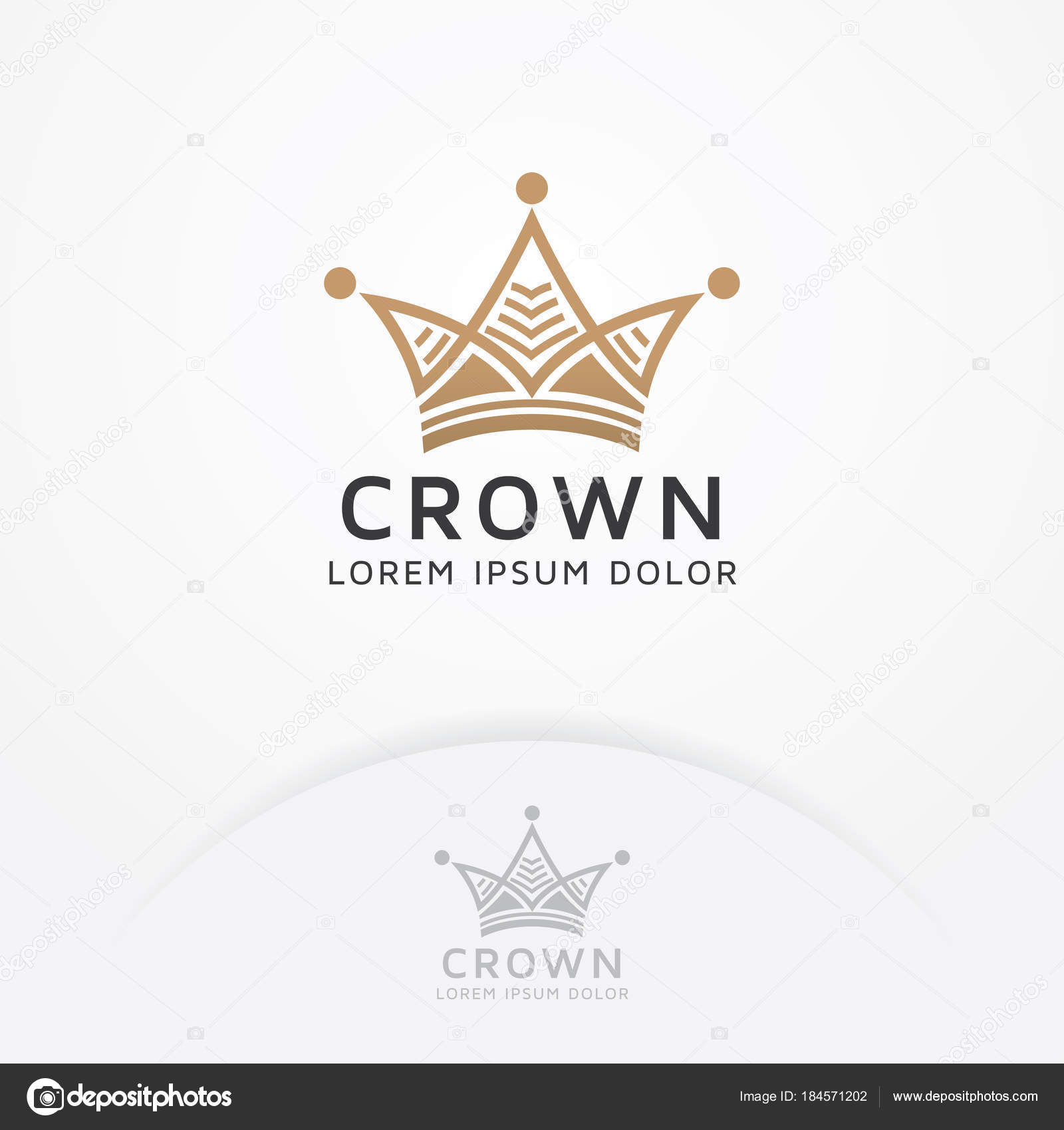 Diseño Logo Corona Corona Oro Para Logo Moda Boutique Rey — Vector ...