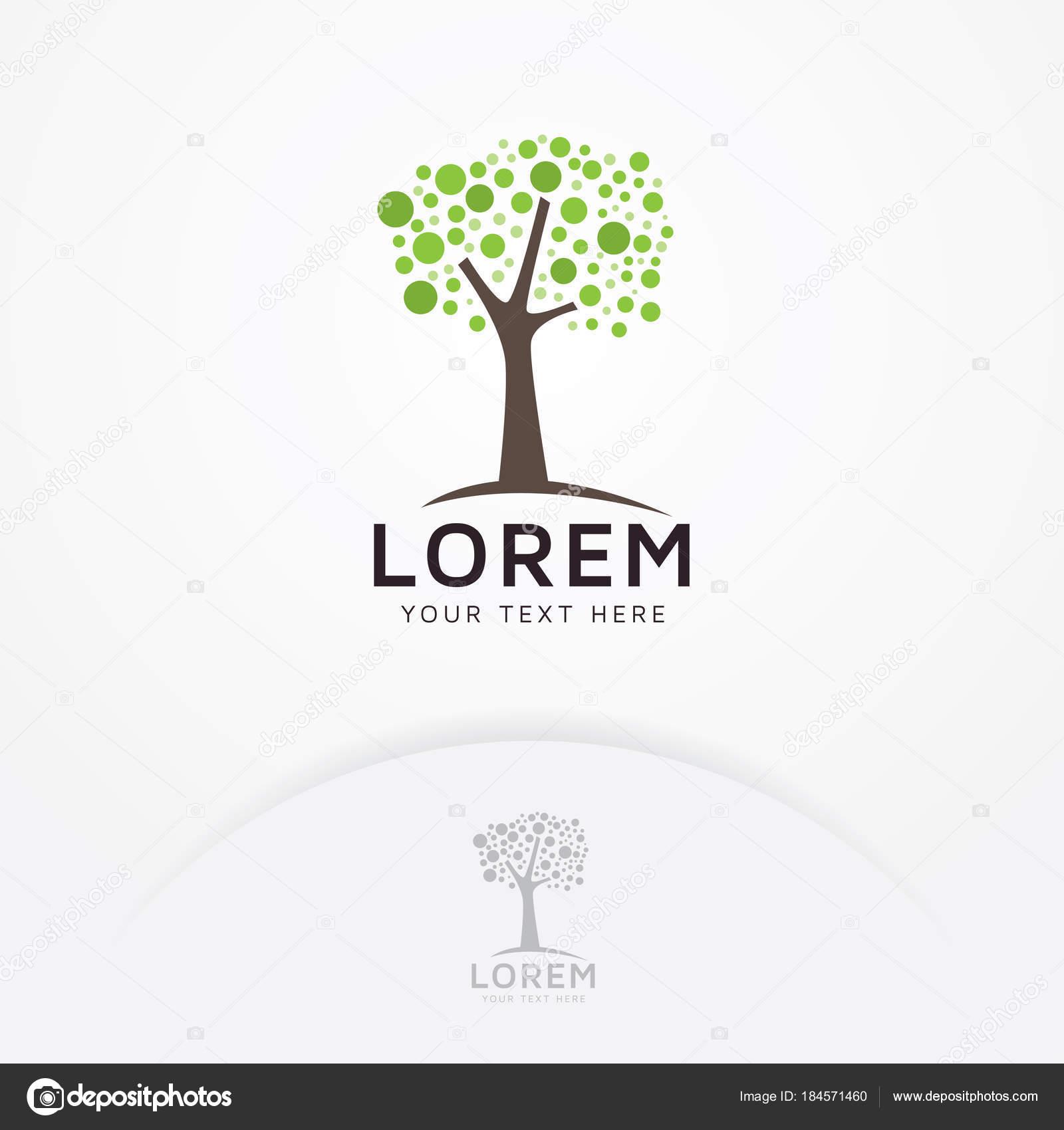 Logotipo Del Árbol Árbol Abstracto Para Logos Naturaleza Ecología ...