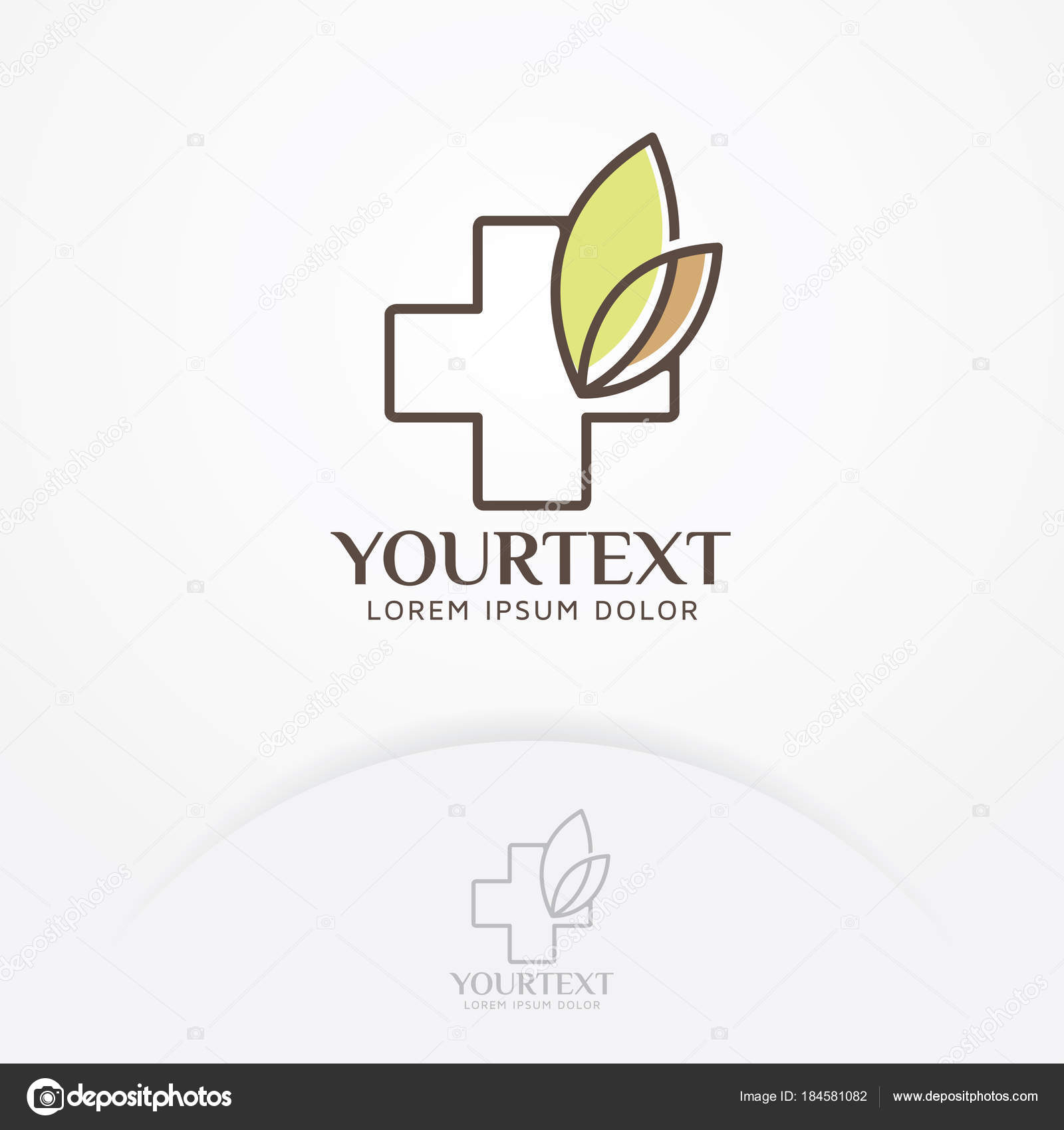 Herbal Health Logo Health Symbol Foliage Clinic Logo Health Fitness