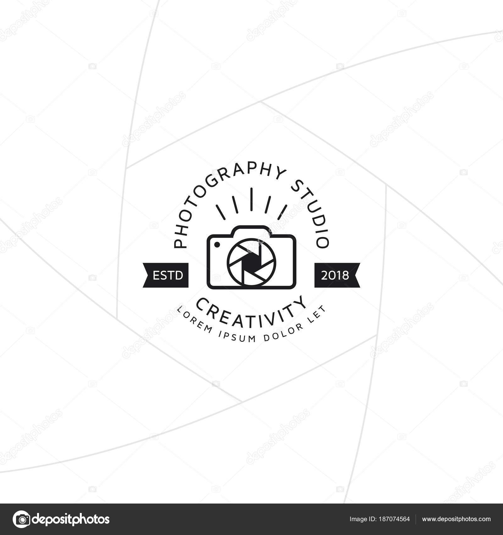 Fotografía Creativa Gafete Etiqueta Diseño Logotipo Para Estudio ...