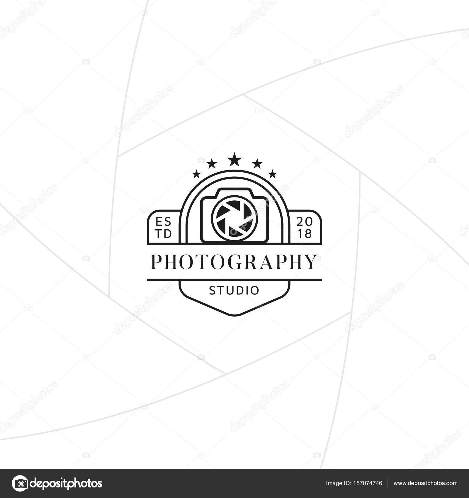 Fotografía Estudio Gafete Etiqueta Diseño Logotipo Para Estudio ...