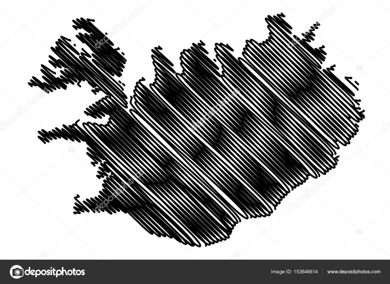 Iceland map vector — Stock Vector © Danler #153646614