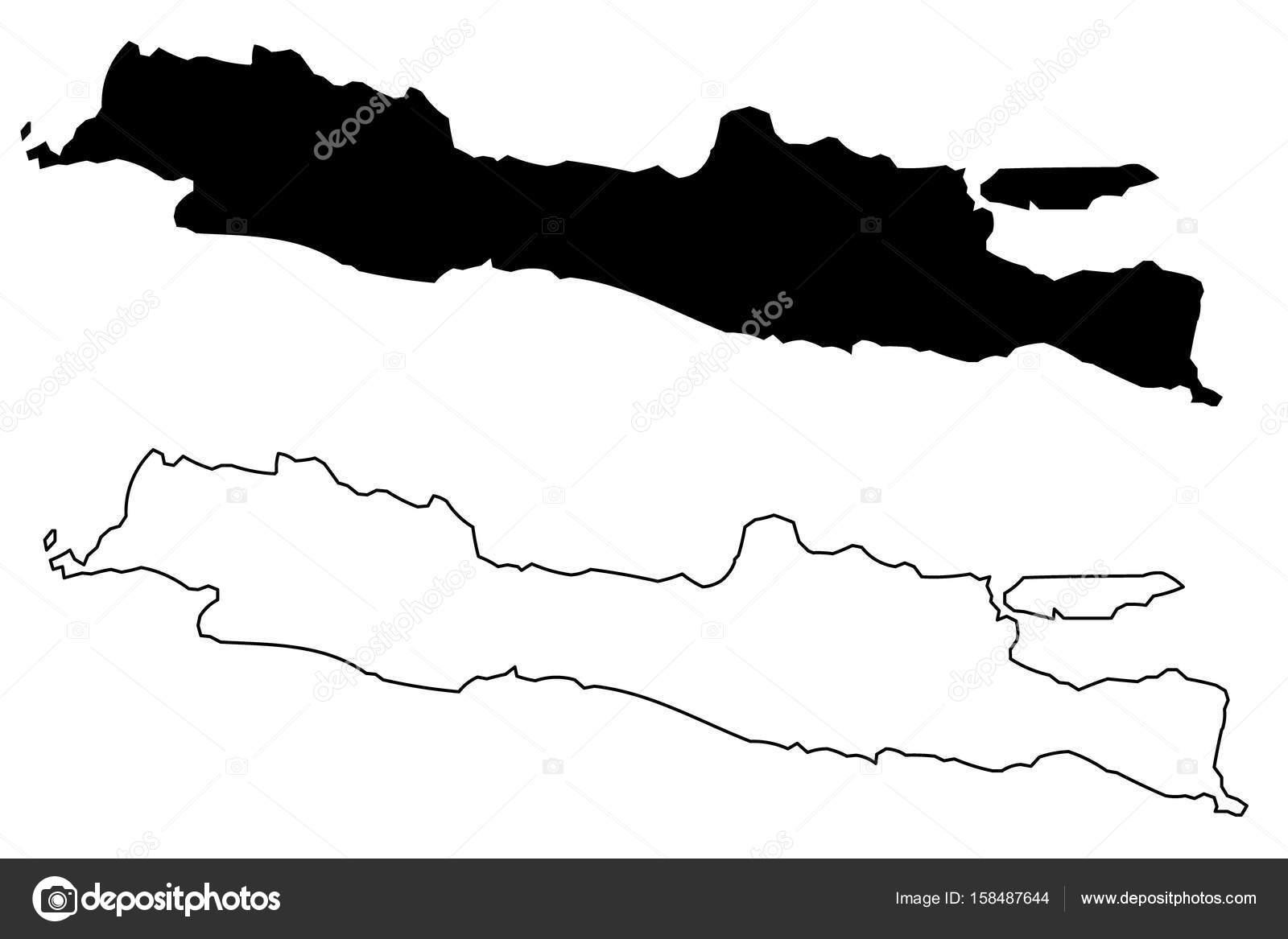 Java island map vector stock vector danler 158487644 java island map vector stock vector gumiabroncs Images