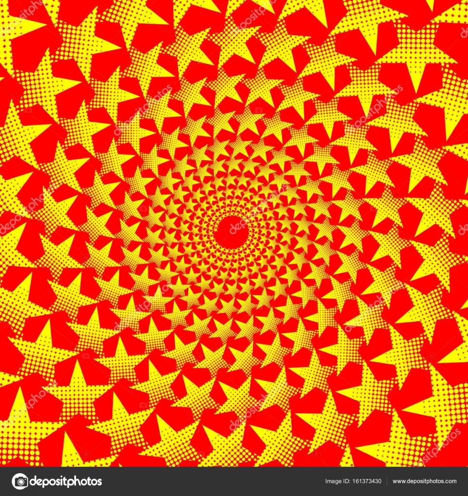 Gelben, fünfzackigen Stern auf rotem Grund - Vektormuster ...
