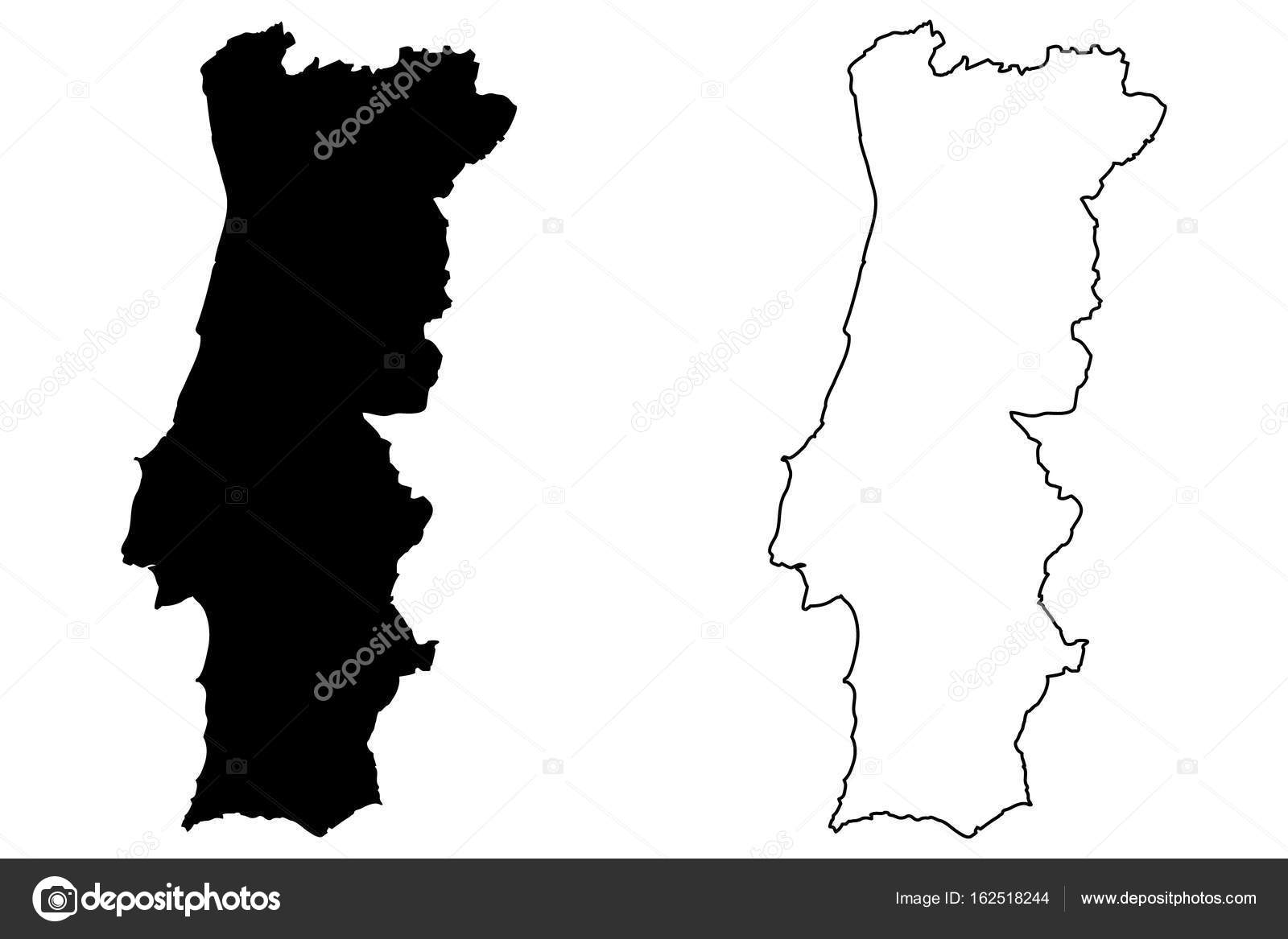 portugal mapa vector Portugal map vector — Stock Vector © Danler #162518244 portugal mapa vector