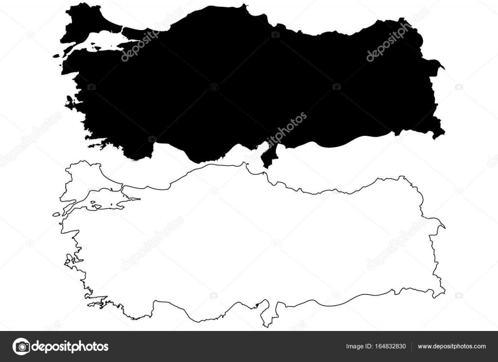 Turkey map vector — Stock Vector © Danler #164832830