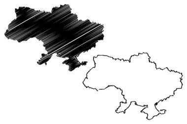 Ukraine map vector