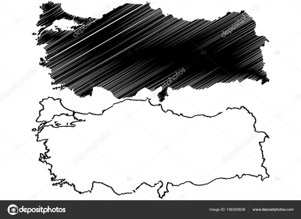 Turkey map vector — Stock Vector © Danler #166305636