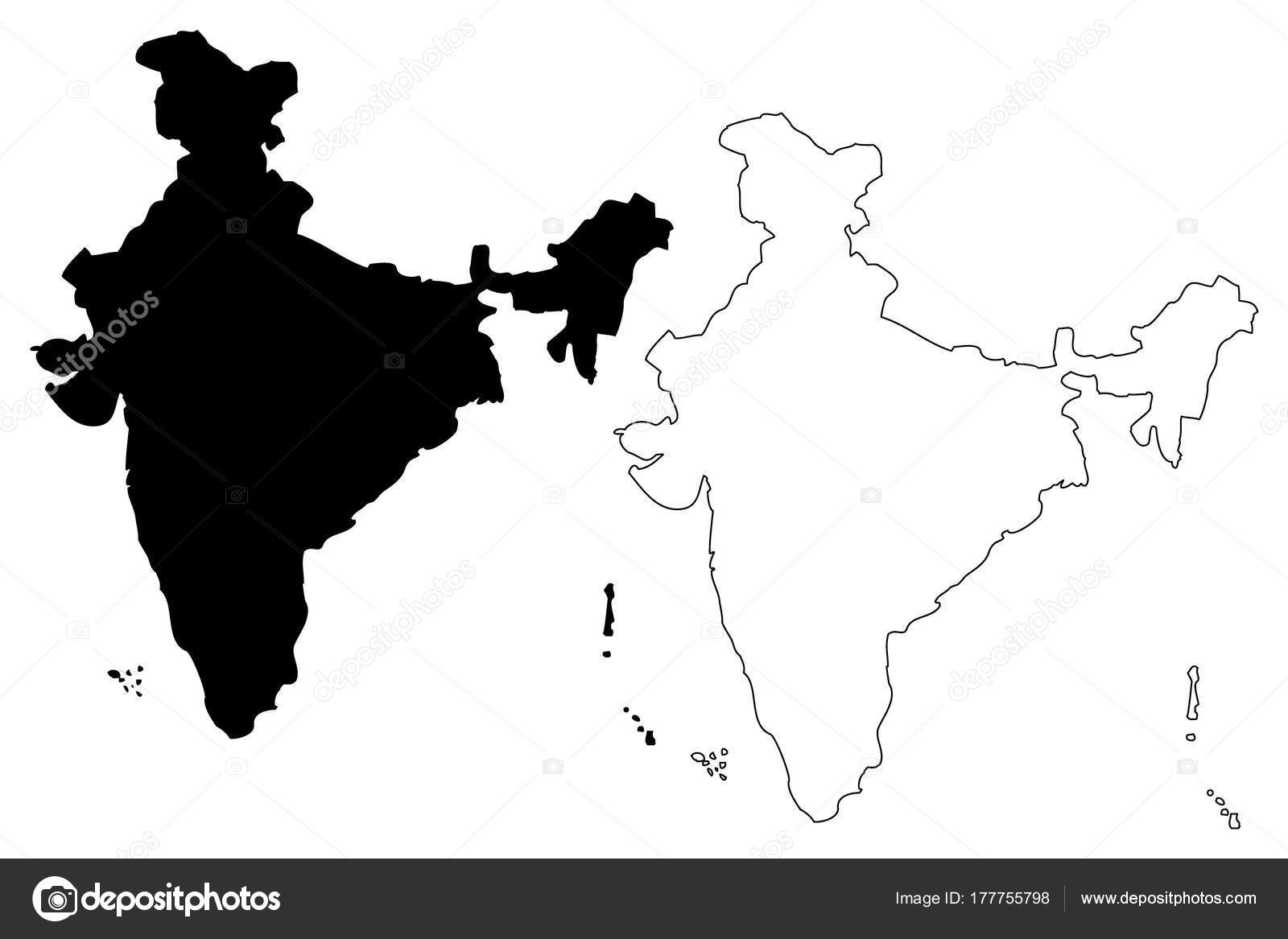 India Map Vector U2014 Stock Vector