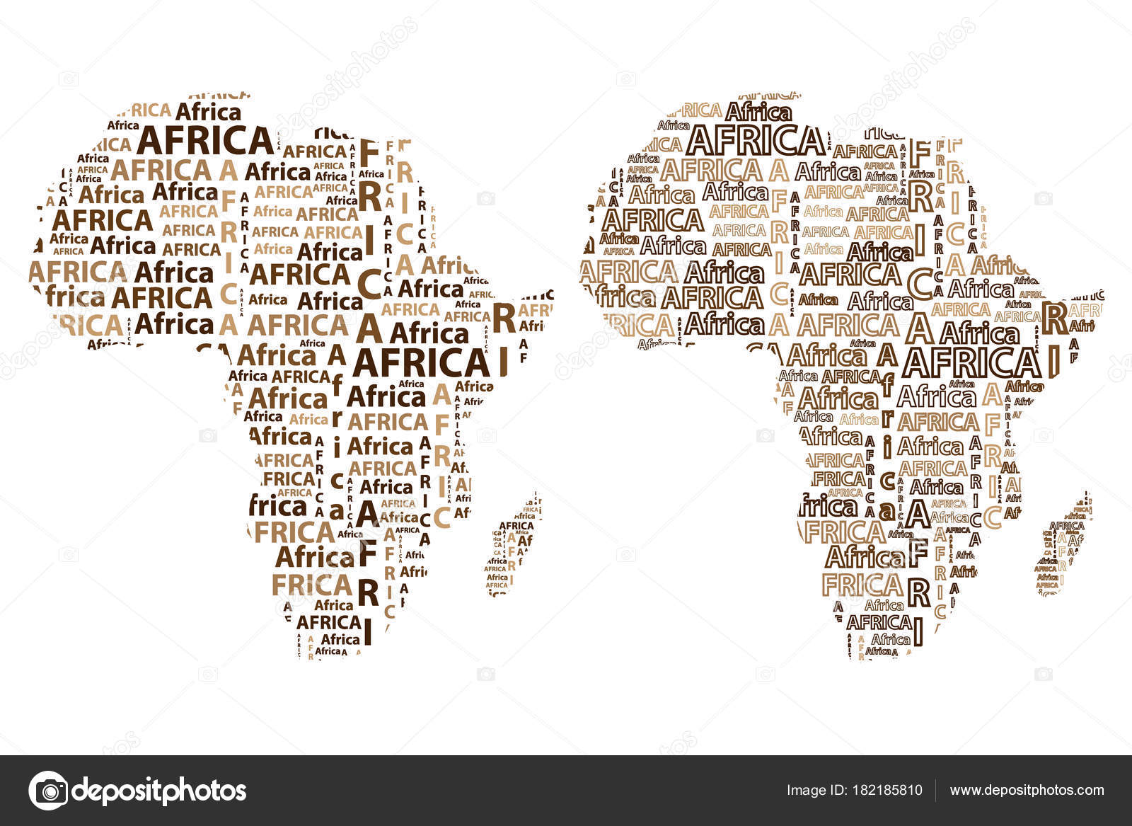 Kaart Van Het Continent Afrika Vectorillustratie Stockvector