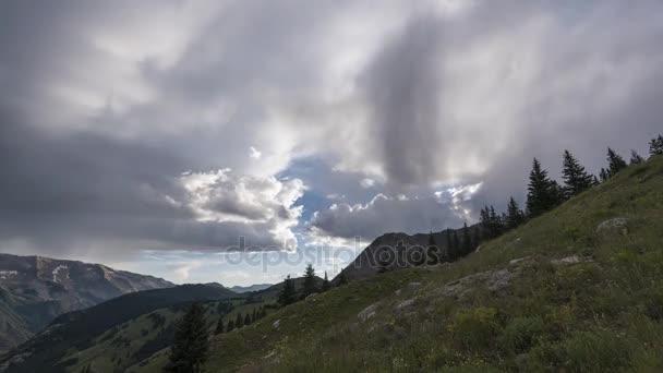 Timelapse krajina v Rocky Mountains, kaštanová/bordó-Snowmass divočiny