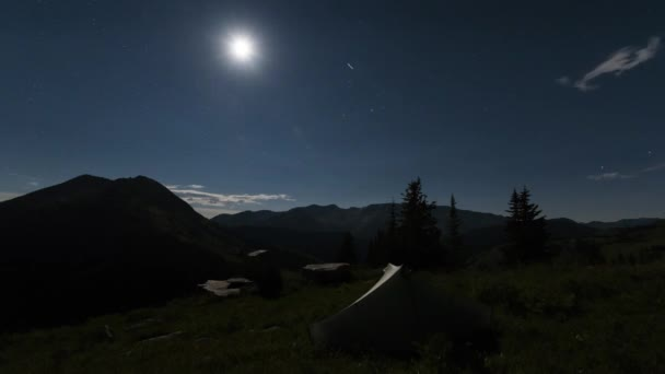 Landscape at Night in the Rocky Mountains, Maroon-Snowmass Wilderness