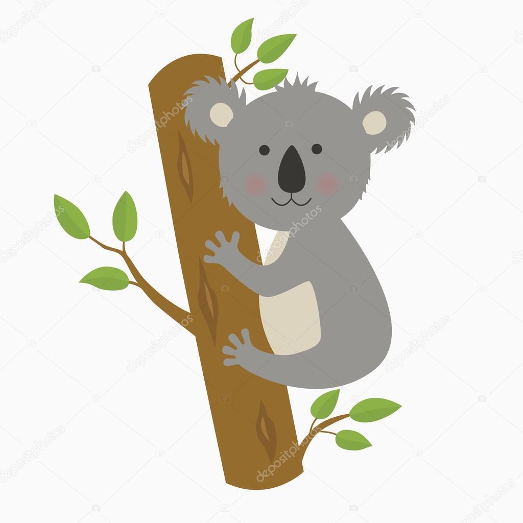 Koala simpatico cartone animato u vettoriali stock nadja tut