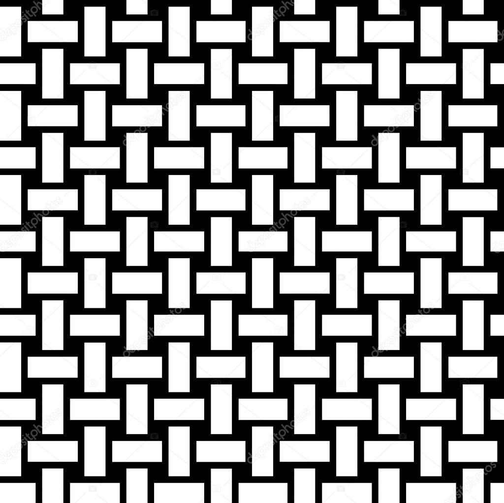 Nahtlose Rechtecke Muster schwarz / weiß Malvorlagen — Stockfoto ...