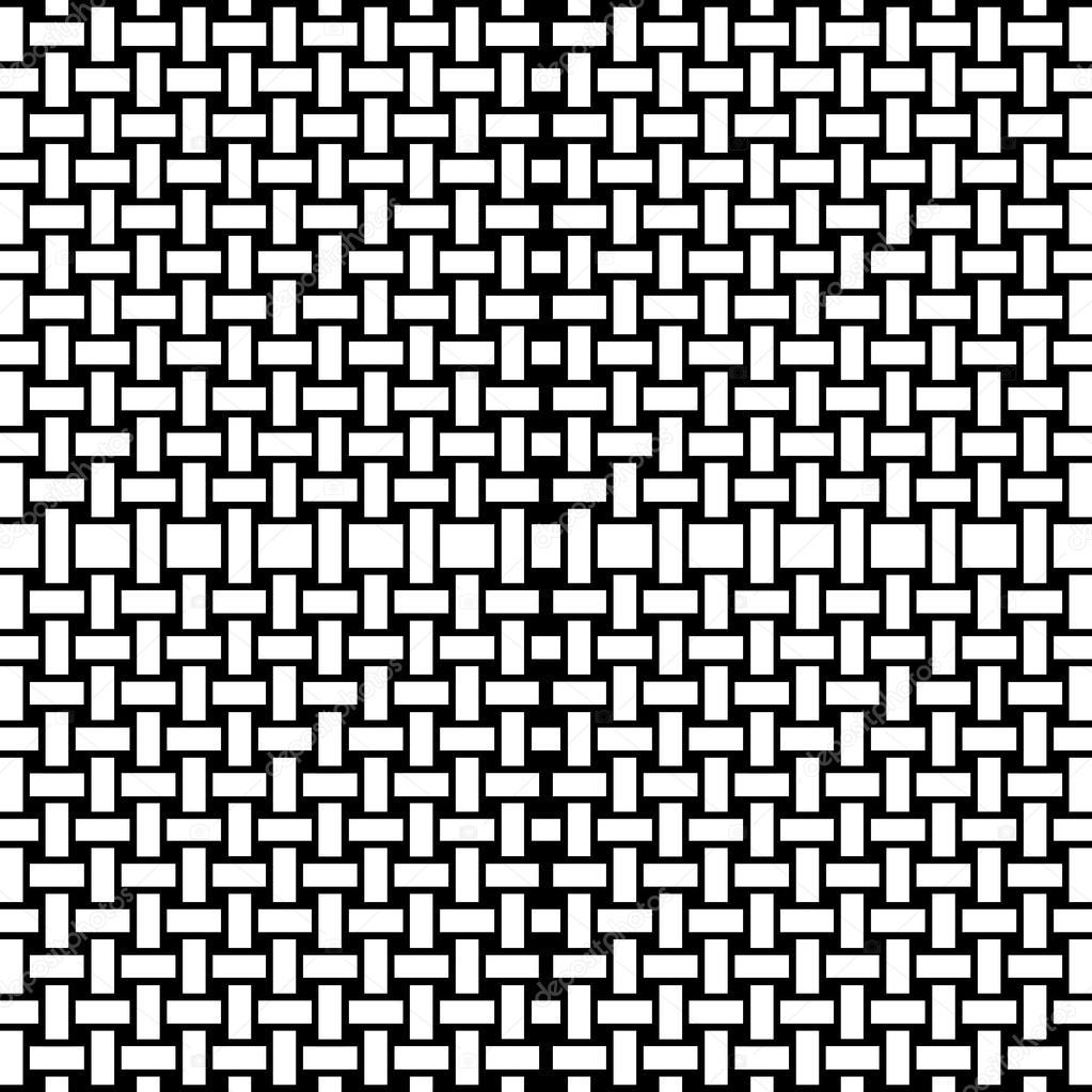 Patrón Sin Fisuras De Rectángulos Blanco Y Negro Para