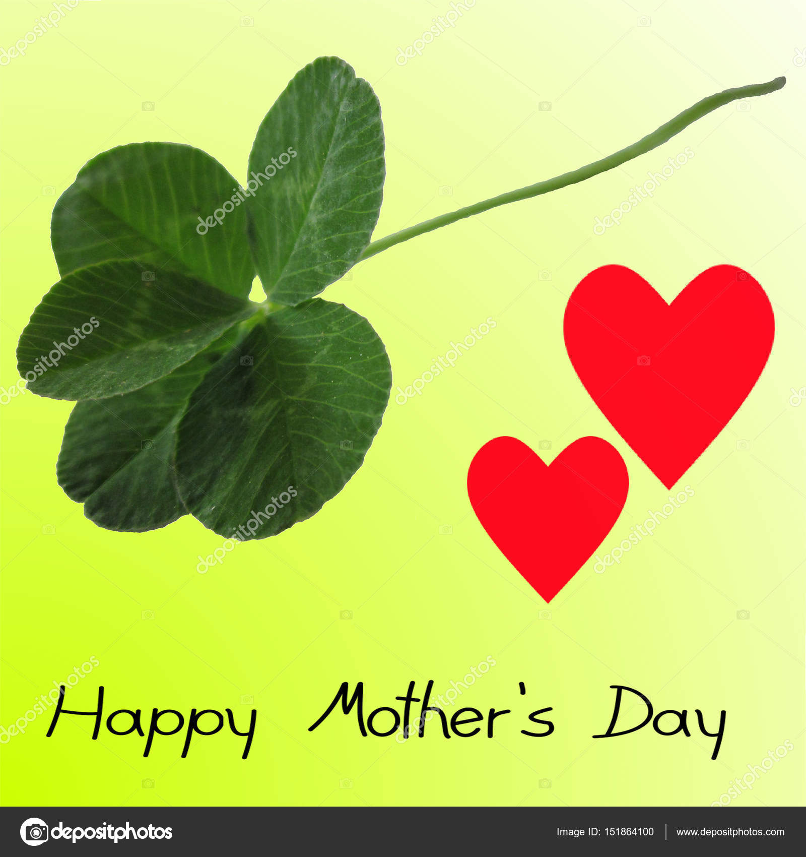 Five Leaf Clover Happy Mothers Day Stock Photo C UR Design 151864100