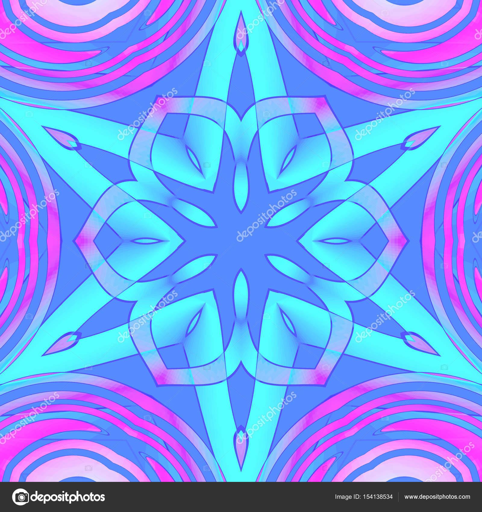 Regelmäßige Zentriert Sterne Ornament Türkis Lila Rosa Violett