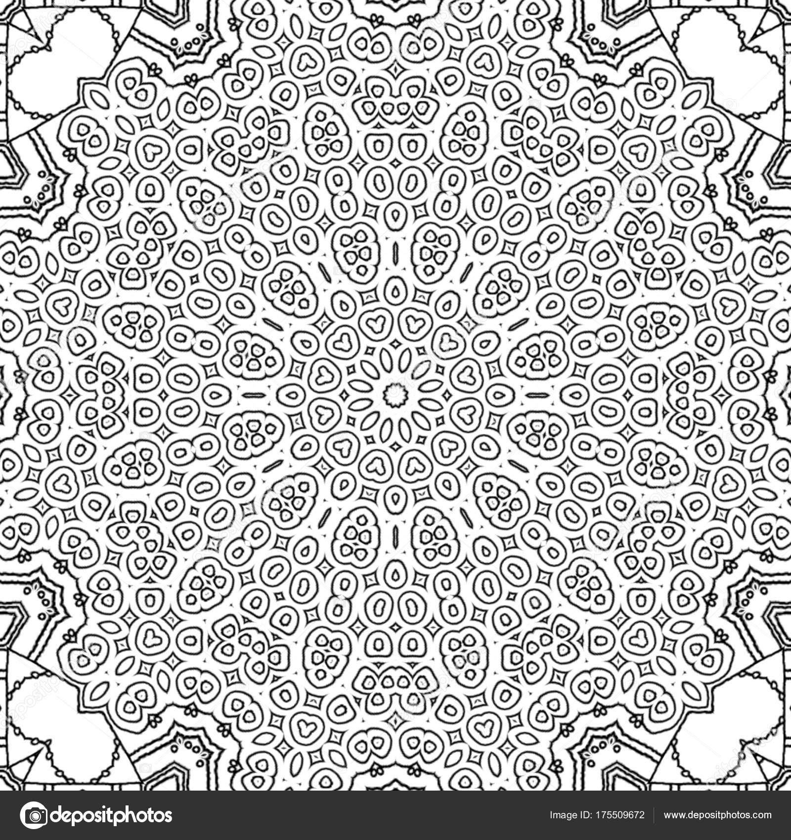 Malvorlagen Zeichnung Abstrakt Monochrome Mandala Runde Zentriert ...