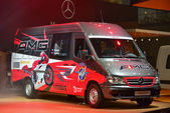 Mercedes-Benz Sprinter auf dem Podest