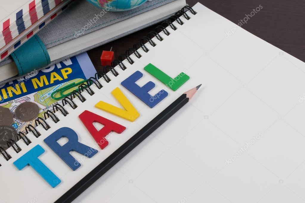 Viajar con viajes alfabeto de palabra. Plantilla de planificación ...