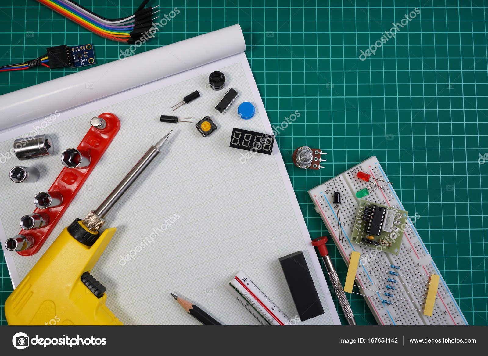 DIY Roboter Ingenieur elektronische Kit stellen Sie Hintergrund, Diy ...