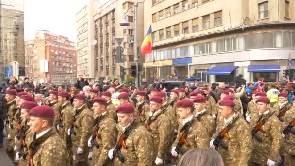 Bucharest, Romania - December 16, 2017:The funeral of  Mihai I of Romania in Bucharest, very loved and respected by the people, slow motion, 4k