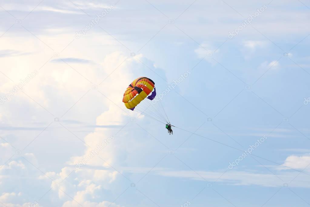 Parasailing parachute stock image. Image of people
