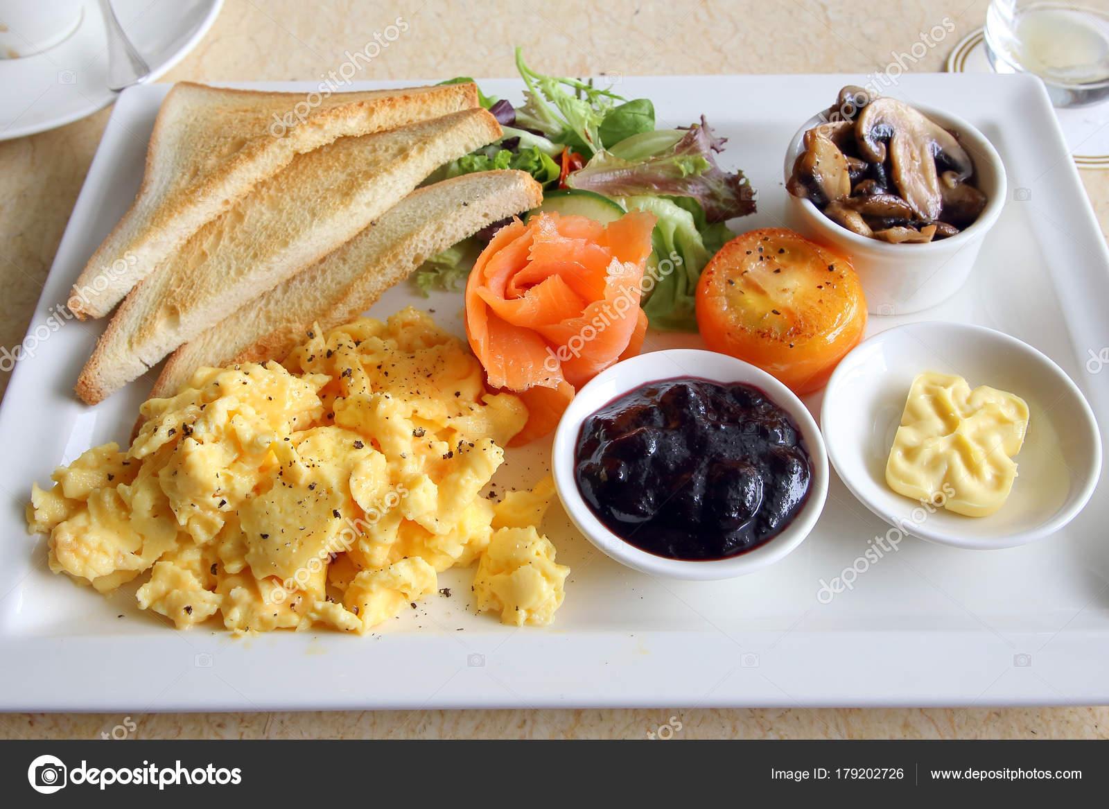 ontbijt met zalm