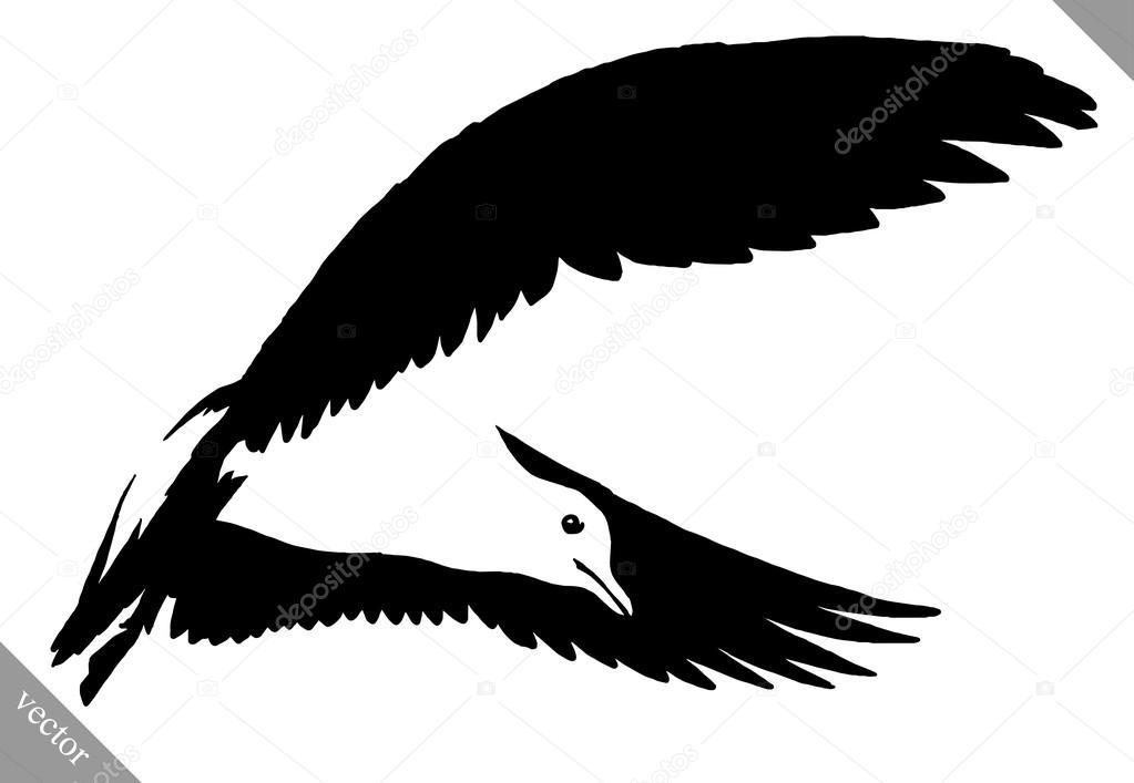 Noir Et Blanc Peinture Dessiner Illustration Vectorielle De