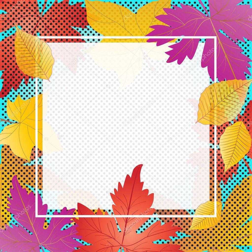 Otoño. Venta de otoño de patrón. Hola otoño. Tarjeta de felicitación ...