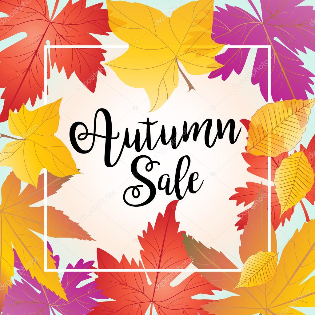 Autumn. Pattern Autumn Sale. Hello Autumn. Autumn Greeting Card. Autumn  Sign Maple Leaf Pattern. Autumn Leaves, Winter, Fall, Spring, Autumn  Background, ...