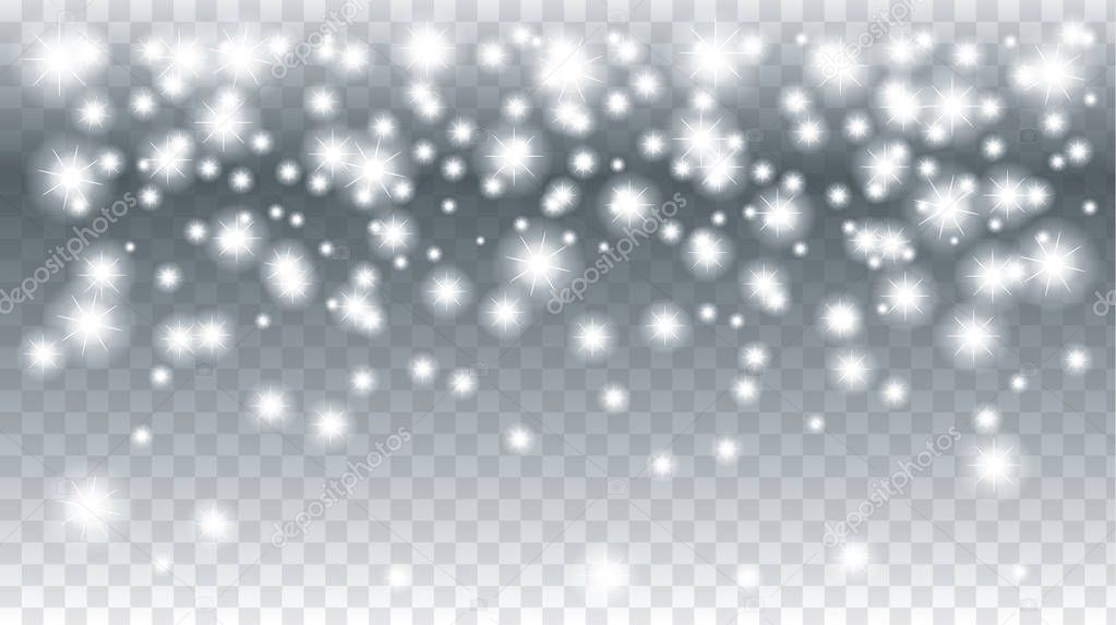 Falling Snow Transparent Christmas Holiday Background