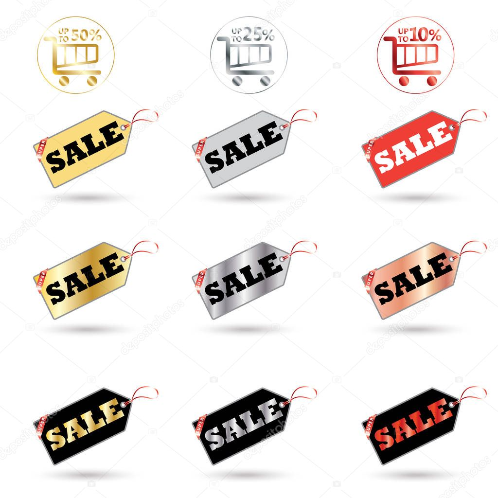 Black Friday Tags. Cyber Monday Web Banner. Sale