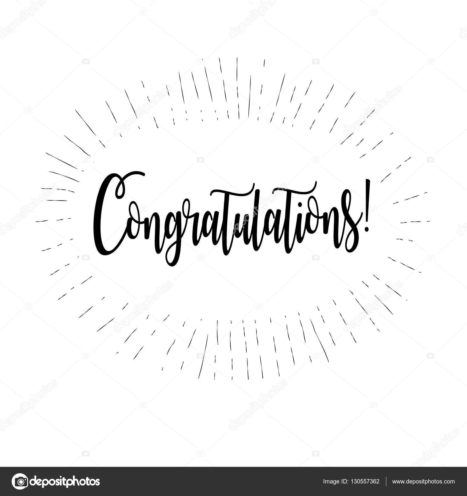 congratulations card vector illustration congratulations