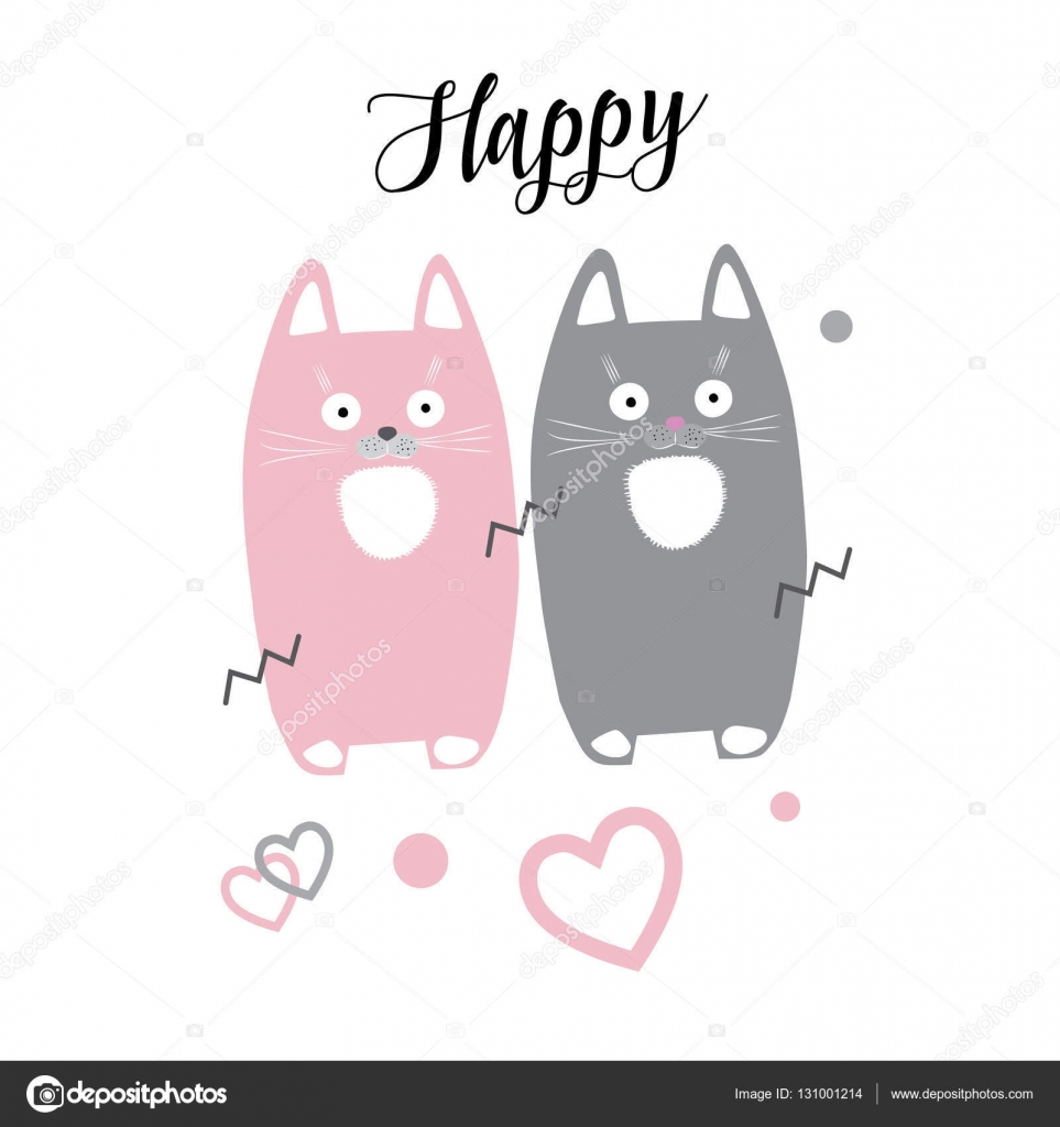 Cute Little Kittens Isolated On White Background Quot Happy