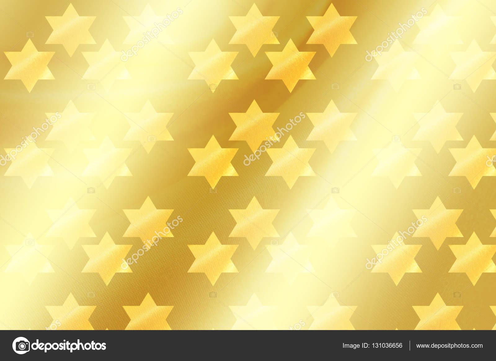 Star of David background. David stars banner. Jewish Holiday stars. Gold stars wallpaper