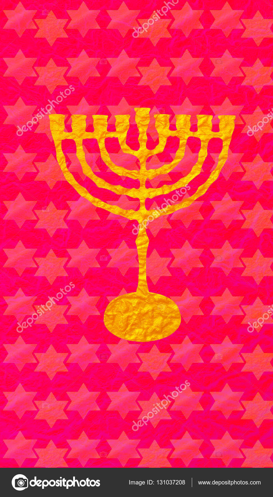 Hanukkah Festival Of Lights Jewish Holiday Menorah Traditional Candelabra For Candles