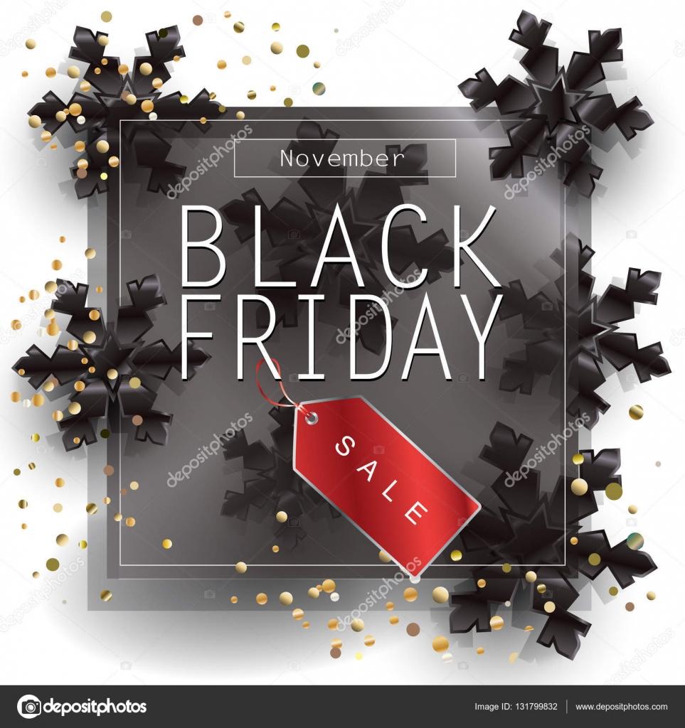 Black Friday Sale poster design template Vector illustration