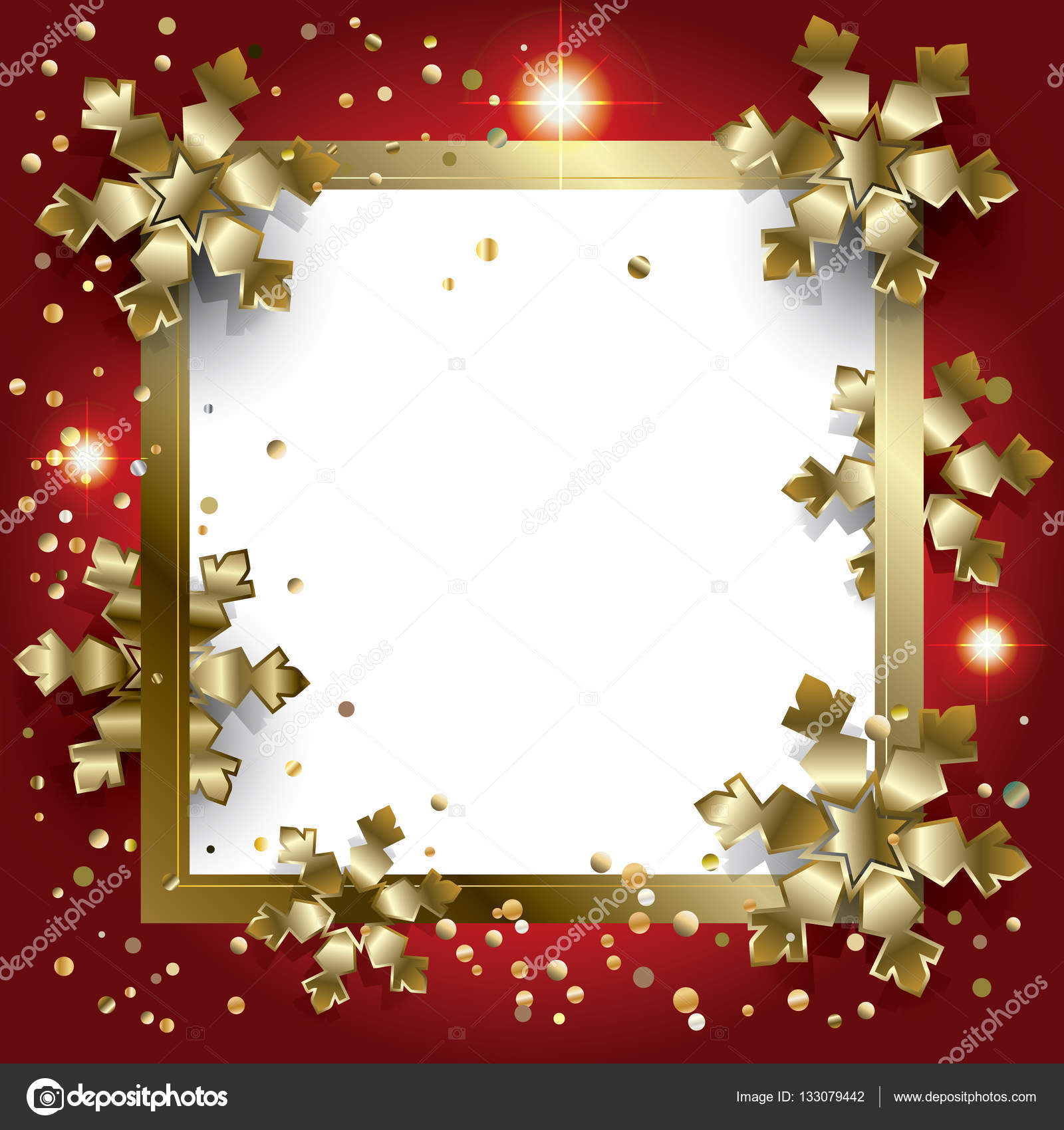 Merry Christmas and Happy New Year greeting card background with ...
