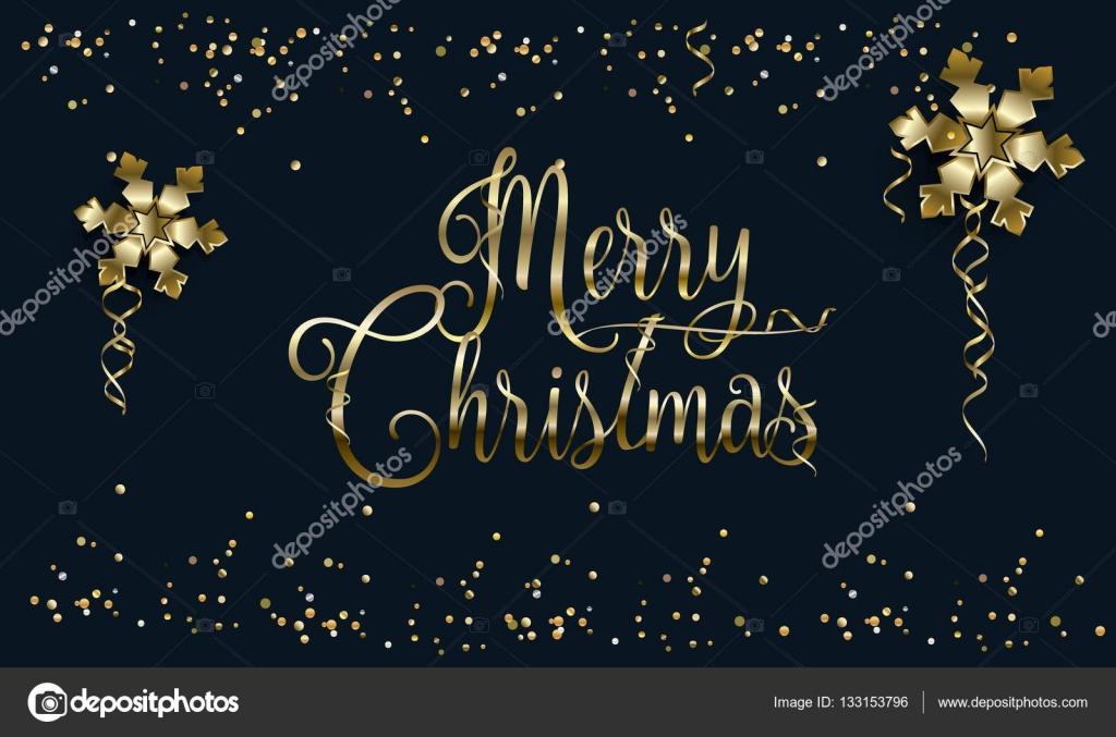 Frohe Weihnachten und Happy New Year Schriftzug Grußkarte mit ...
