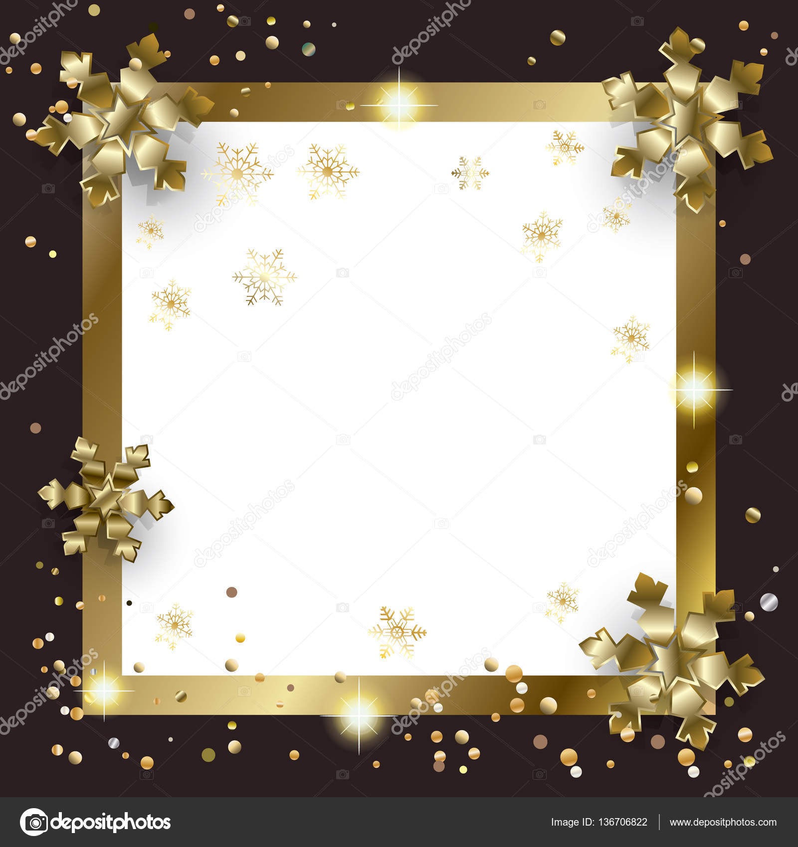 Vector Luxury frame for Merry Christmas and Happy New Year ...