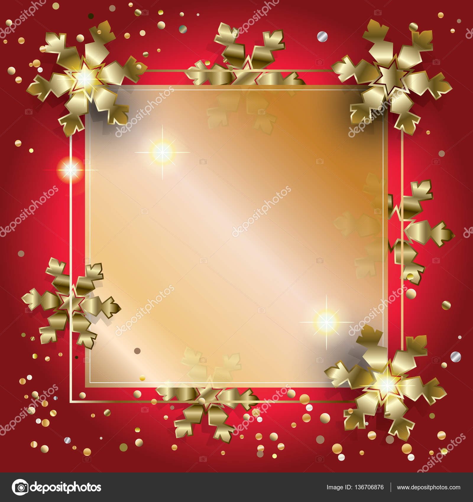 Vector Luxury frame for Merry Christmas and Happy New Year 2017 ...