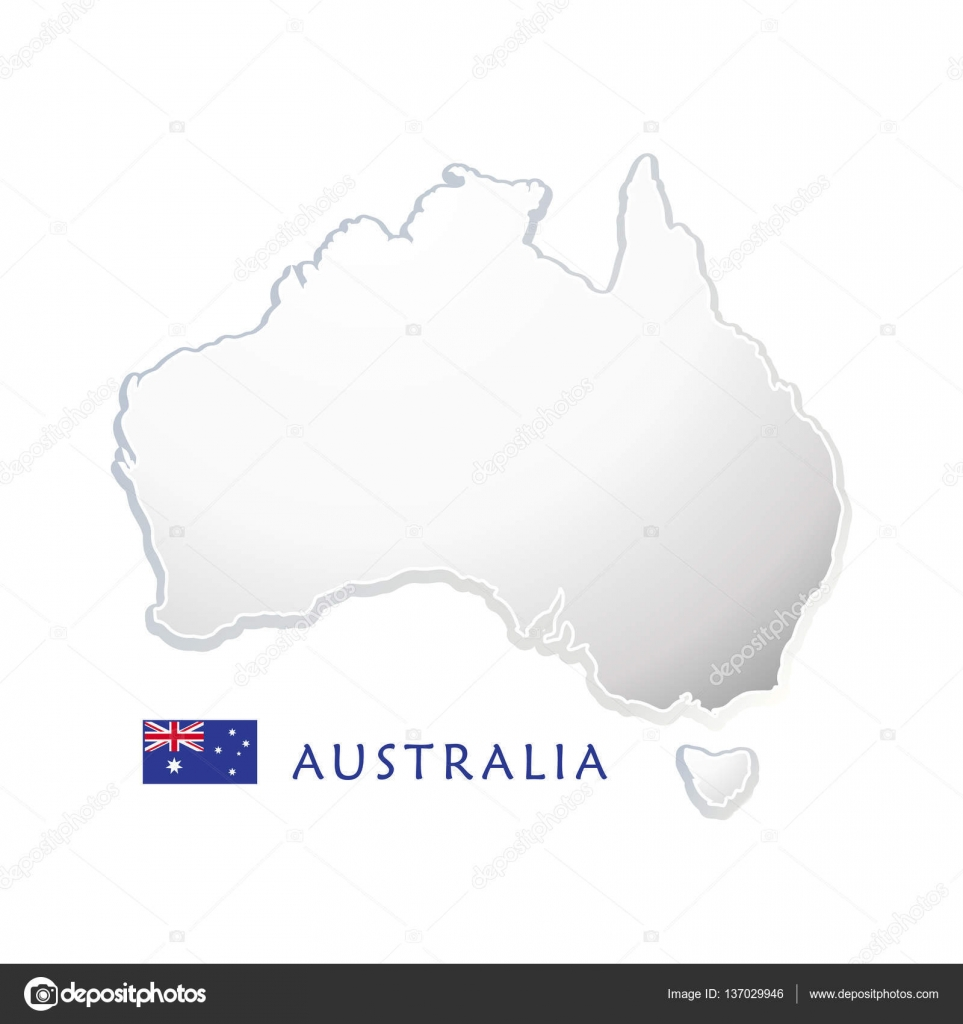 Australia Map Landmarks.Australia Map Australia Day 26th January Poster With Australia Map