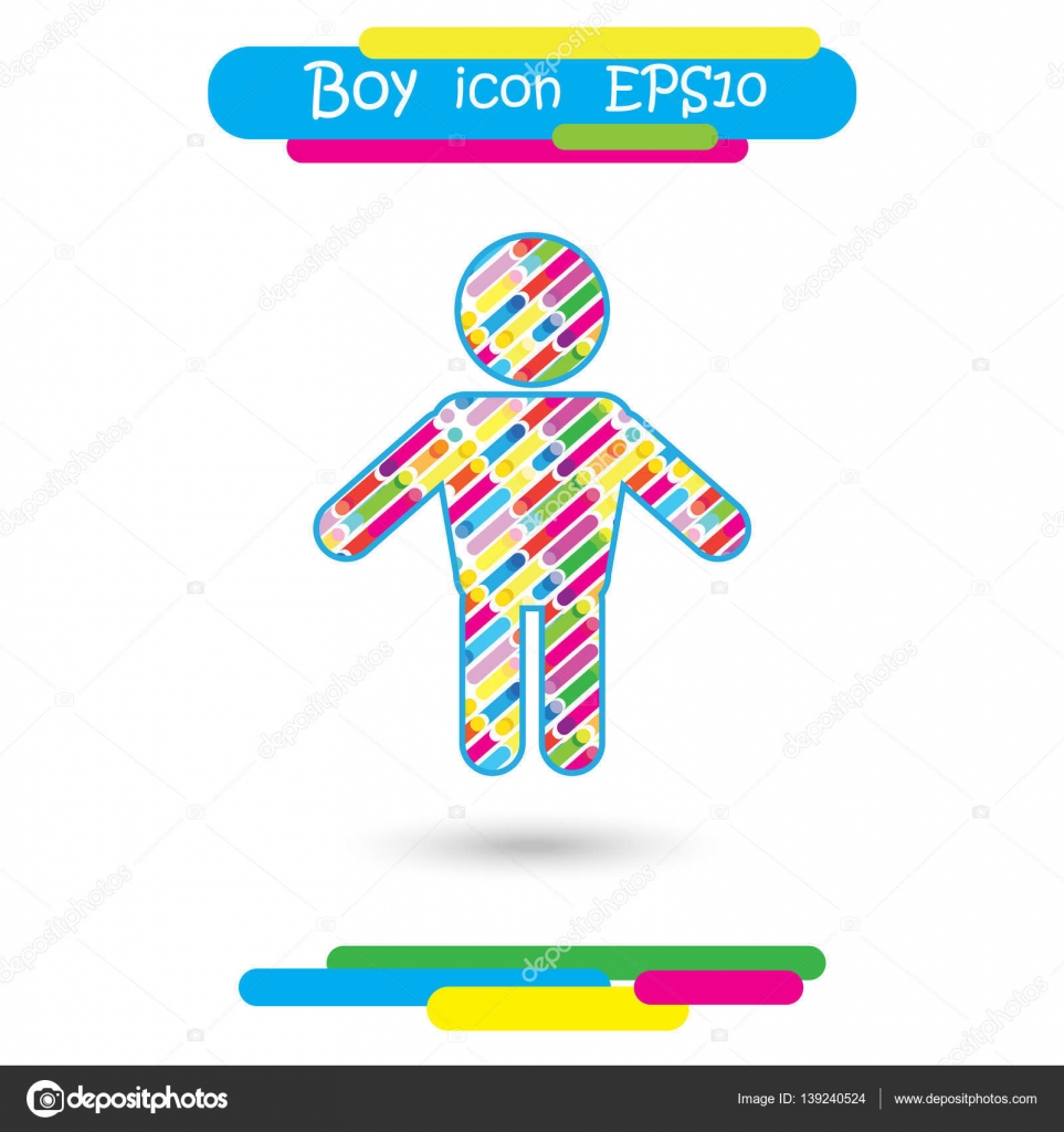 Happy boy icon in trendy flat style isolated on colorful boy happy boy icon in trendy flat style isolated on colorful background children symbol for web site design logo poster sign biocorpaavc Images