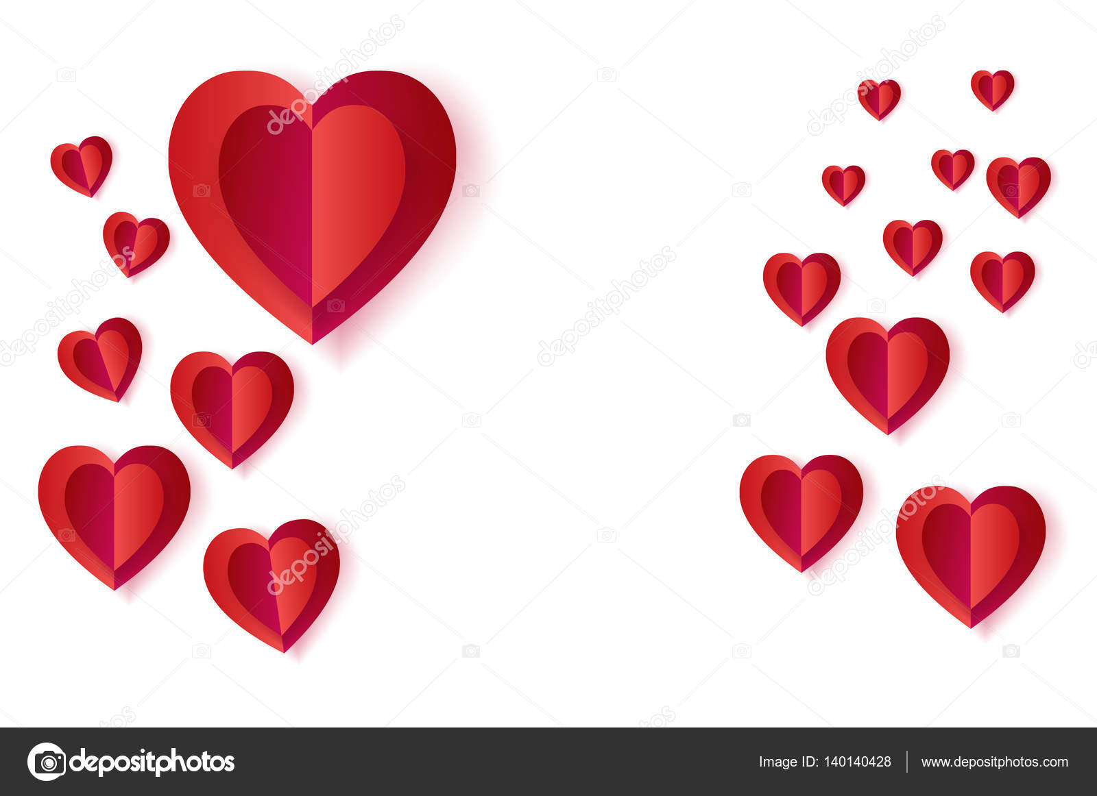 Happy Valentines Day Greeting Card Layout Vector Template