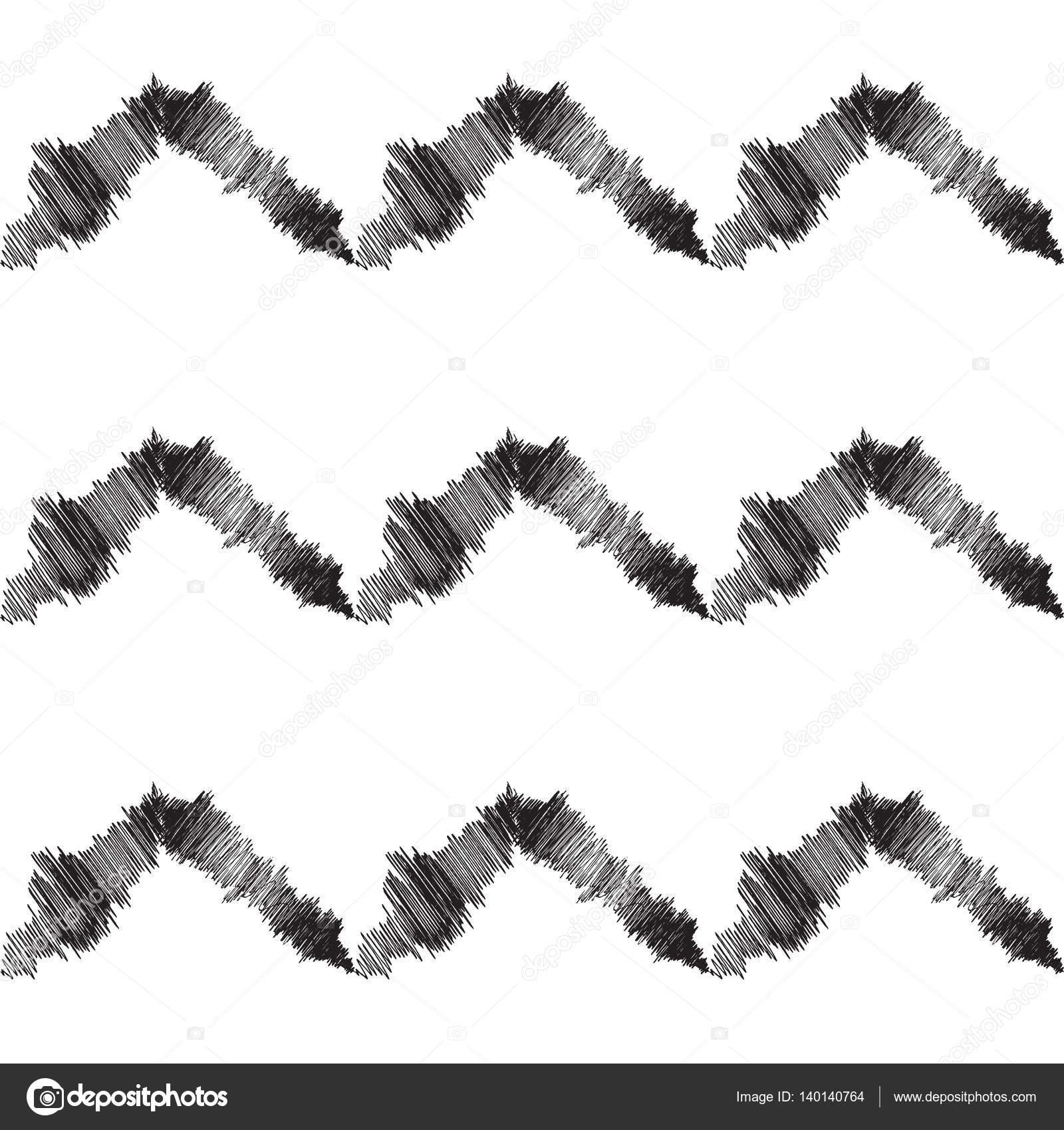 Zigzag pattern  Hand Drawn zigzag lines pattern  Futuristic